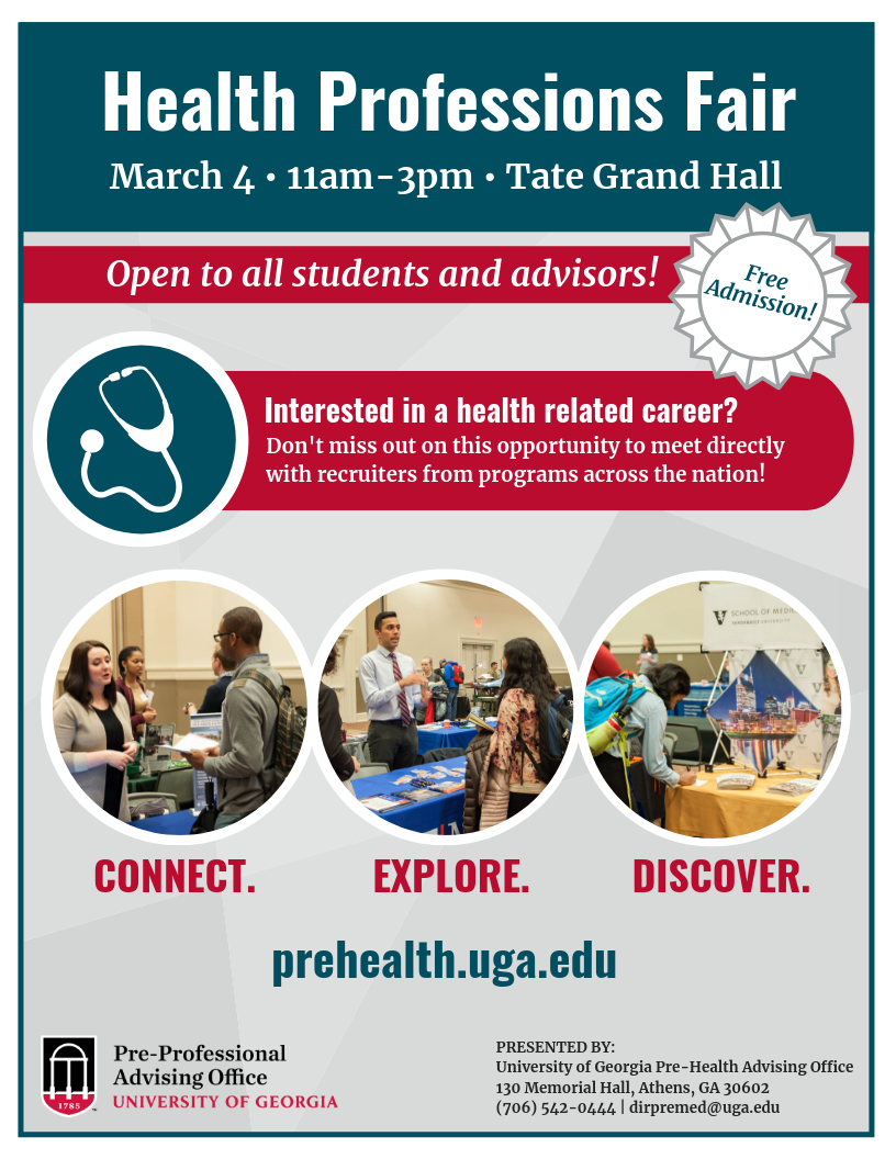 Health Professions Fair 2019 | Pre-Health Advising Office